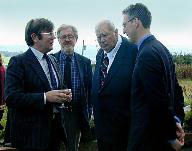 Jay Tate, Sir Patrick Moore, Dr Harry Atkinson, Lembit Opik MP