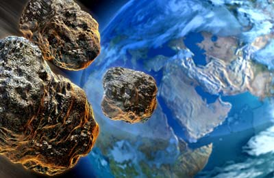 Asteroid Fragments Approach Earth